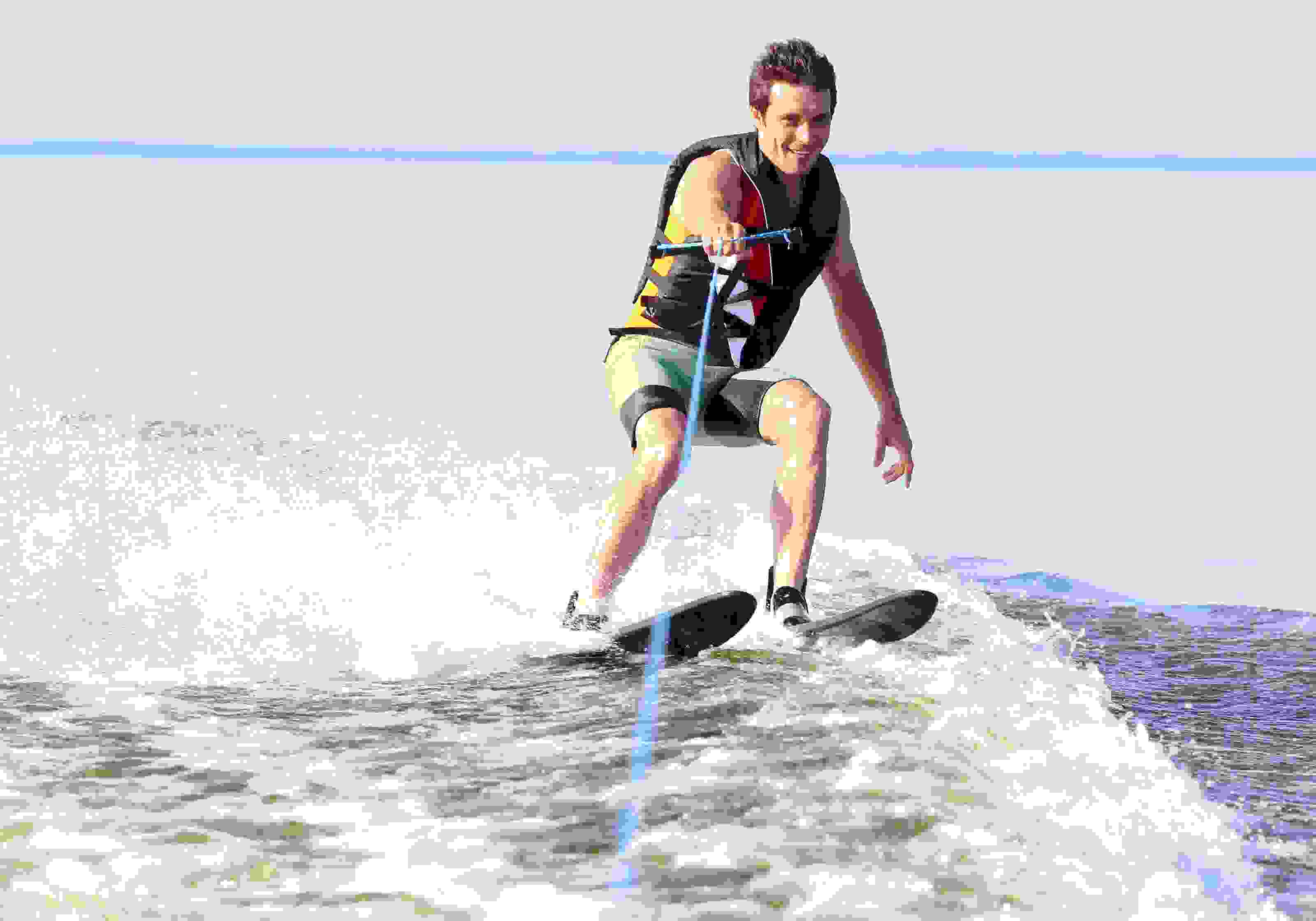 Invisible water skiing